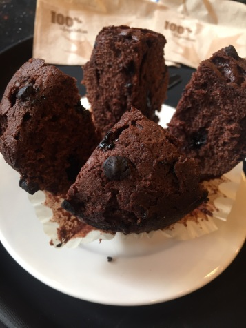 Chocolate muffin ~ second cup, Accra mall