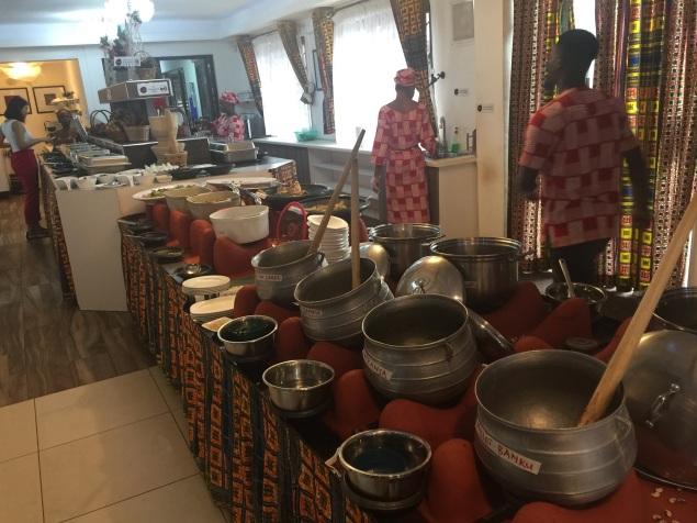 Azmera buffet setting