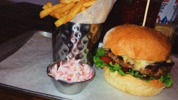 Smokey Joe cheese burger ~ burger & relish